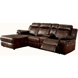 Hardy Brown LAF Reclining Sectional With Console