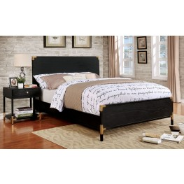 Carmela Black and Gold Youth Panel Bedroom Set