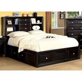 Yorkville Espresso Queen Platform Bookcase Bed