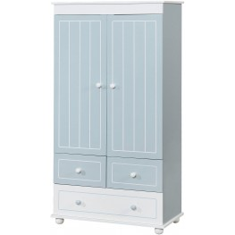 Deana Blue and White Armoire