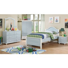 Deana Blue and White Youth Panel Bedroom Set