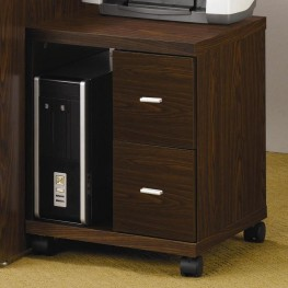 Peel Brown Home Office Computer Stand - 800832
