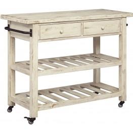 Marlijo White Kitchen Cart