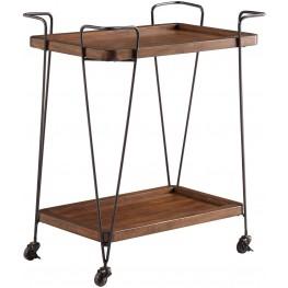 Moddano Brown and Black Kitchen Cart