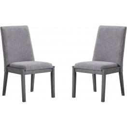 Besteneer Gray Upholstered Side Chair Set of 2