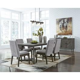 Besteneer Gray Rectangular Dining Room Set