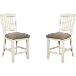 Bolanburg Two-Tone Upholstered Barstool Set of 2