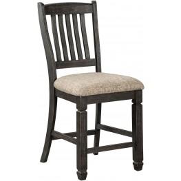 Tyler Creek Black And Gray Upholstered Barstool Set of 2