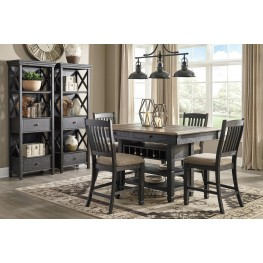 Tyler Creek Black And Gray Rectangular Counter Height Dining Table