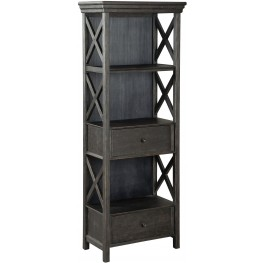 Tyler Creek Black And Gray Display Cabinet