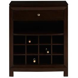 Warm Cherry Drawer and Shelves Wine Cabinet
