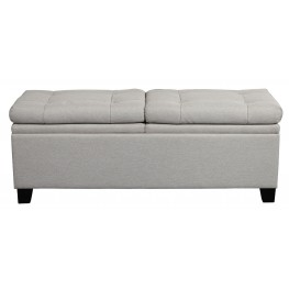 Trespass Marmor Upholstered Storage Bed Bench