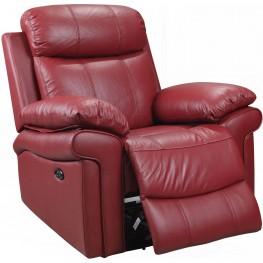 Shae Joplin Red Leather Power Reclining Chair