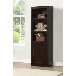 Greenwich Dark Walnut Door Bookcase