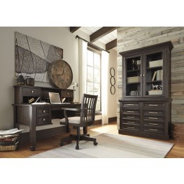 Townser Grayish Brown Home Office Set
