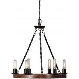 Plato Brown And Black Wood Pendant Light