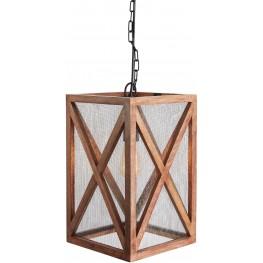 Jodene Brown Wood Pendant Light