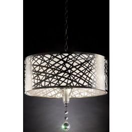 "Mya 11"" Translucent and Black Ceiling Lamp"