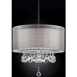 """Lila 19"""" Silver Ceiling Lamp"""
