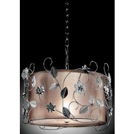 Elva Chrome Double shade Ceiling Lamp