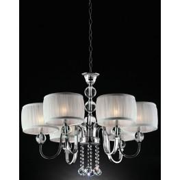 Chloe White Hanging Crystal Ceiling Lamp