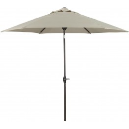Umbrella Accessories Beige and Dark Brown Medium Auto Tilt Umbrella