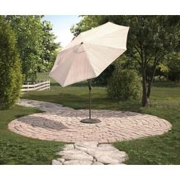 Beige And Brown Medium Auto Tilt Umbrella