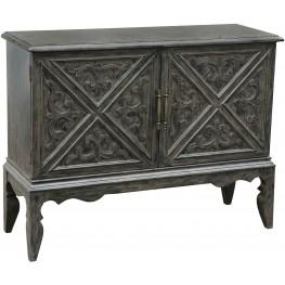 Brown Adjustable Shelf Bar Cabinet