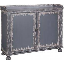Grey Distressed Bar Cabinet