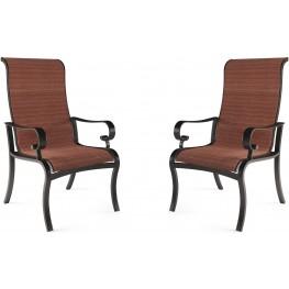 Apple Town Burnt Orange Sling Chair Set of 2