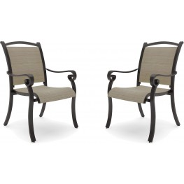 Bass Lake Beige And Brown Sling Chair Set of 4