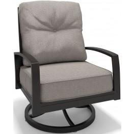 Castle Island Dark Brown Swivel Lounge Chair