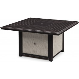 Town Court Brown Square Fire Pit Table