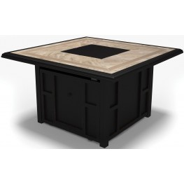 Chestnut Ridge Brown Square Fire Pit Table