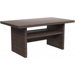 Salceda Beige and Brown Outdoor Rectangular Multi-Use Table