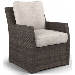 Salceda Beige And Brown Lounge Chair