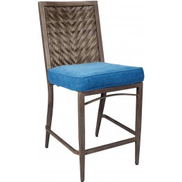 Partanna Blue and Beige Barstool Set of 4