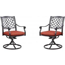 Tanglevale Burnt Orange Swivel Chair Set of 2
