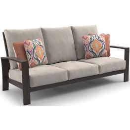 Cordova Reef Dark Brown Sofa with Cushion