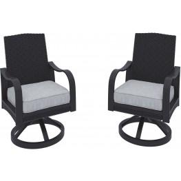 Marsh Creek Brown Swivel Arm Chair Set of 2