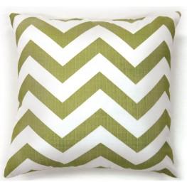 "Zoe Green Chevron 18"" Pillow Set of 2"