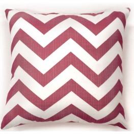 "Zoe Red Chevron 18"" Pillow Set of 2"