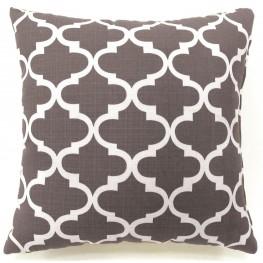 """Xia Gray Quatrefoil 18"""" Pillow Set of 2"""