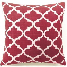 """Xia Red Quatrefoil 18"""" Pillow Set of 2"""