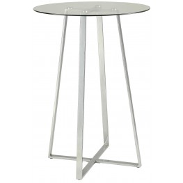 Chromed Steel Bar Table