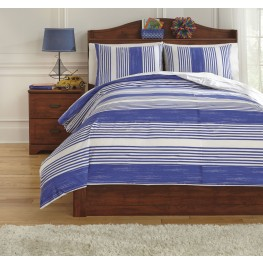 Taries Blue Full Duvet Cover Set