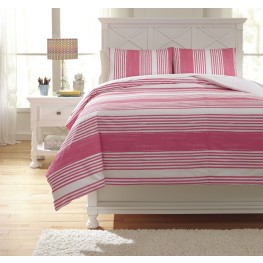Taries Pink Twin Duvet Cover Set