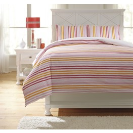 Genista Multi Twin Duvet Cover Set