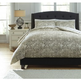 Kelby Natural King Duvet Cover Set