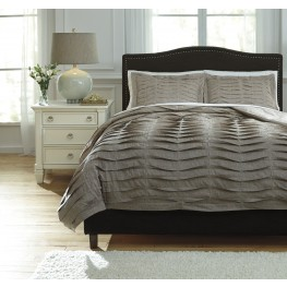 Voltos Dark Brown King Duvet Cover Set